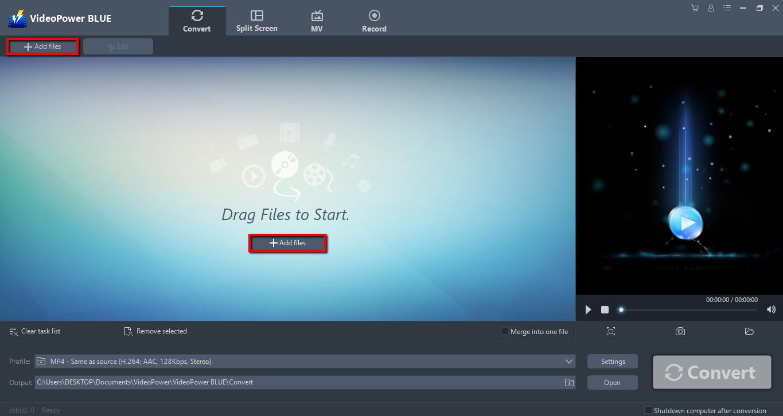 VideoPower BLUE full screenshot